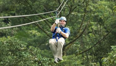 Private Amazing Zipline Canopy Tour With Aerial Tram
