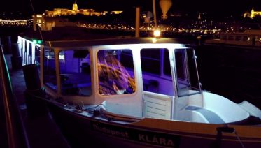 Private Boat on the Danube River in Budapest