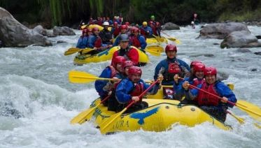 Raft on the Maipo River