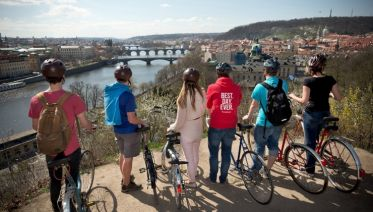 Retro Bike Tour: Prague from Above