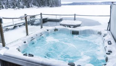 Sauna and Hot Tub with Northern Lights in Rovaniemi