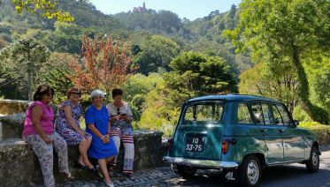 Sintra and Cascais Tour in classic 4L Car