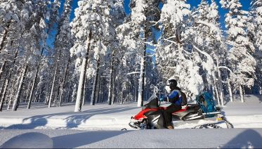 Snowmobile & Ice Fishing Experience in Lapland