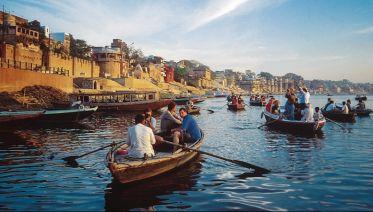 Sunrise Boat Cruise On The River Ganges
