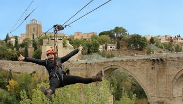 Toledo on your own and Zipline ticket from Madrid