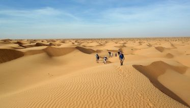 Trekking In The Great Sahara Desert