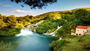 Unique Krka Waterfalls
