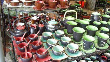 Visiting Bat Trang Ceramic and Snake Village