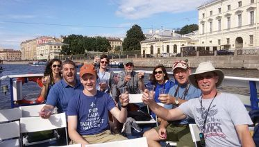 Vodka Tasting and Evening Canal Cruise in St Petersburg
