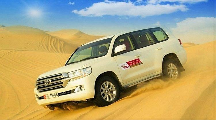 Abu Dhabi Desert Safari with Dune Bashing & BBQ Dinner