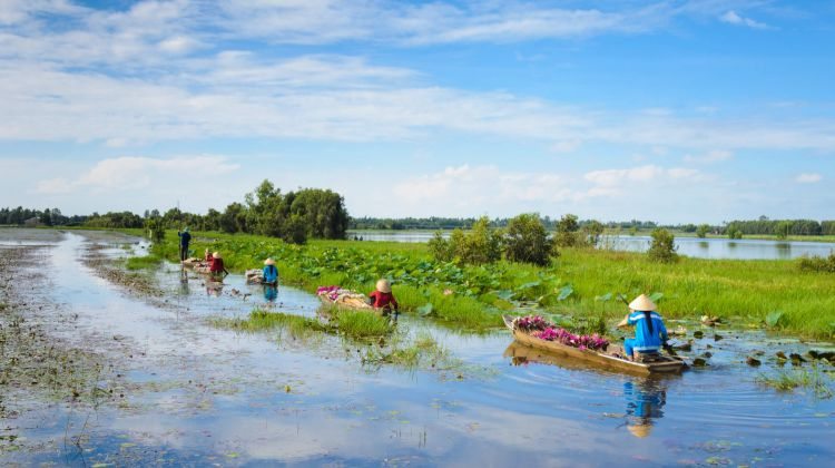 Biking in Mekong Delta to Villages
