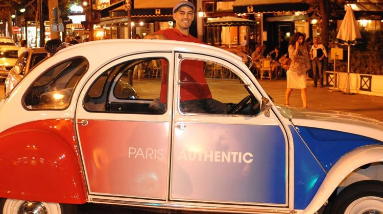 Citroen 2CV night tour with champagne (2h)