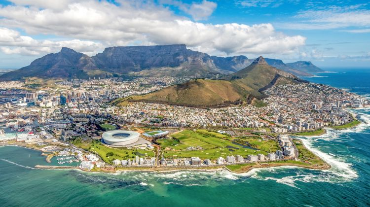 City, Table Mountain and Robben Island