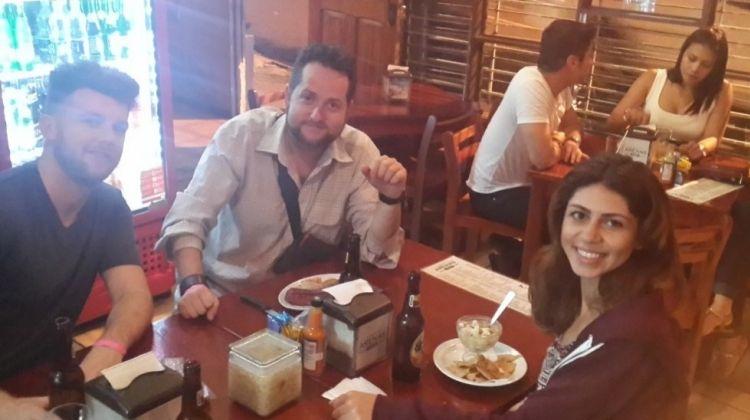 Dancing, Talking and Eating in Escazu