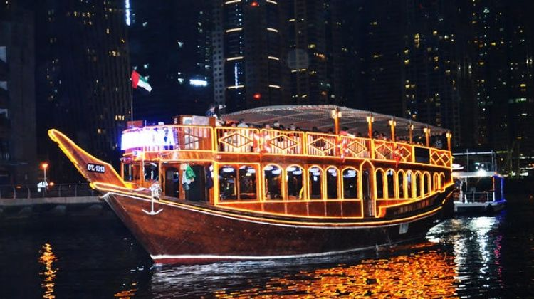 Dinner in Dhow Cruise at Exotic Dubai Marina