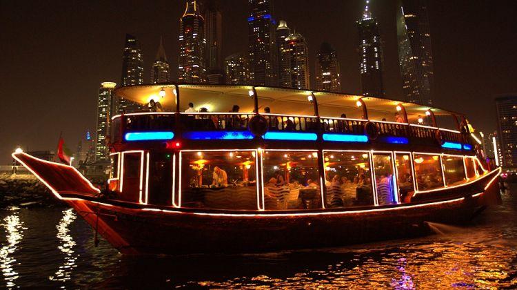 Dinner on Traditional Dubai Dhow Cruise