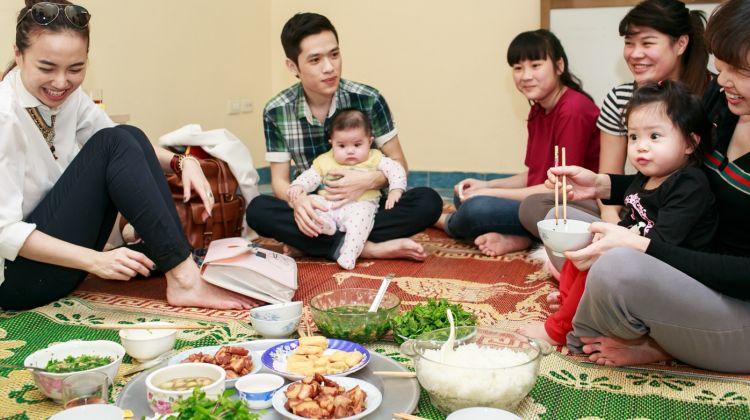 Dinner with a Hanoian family