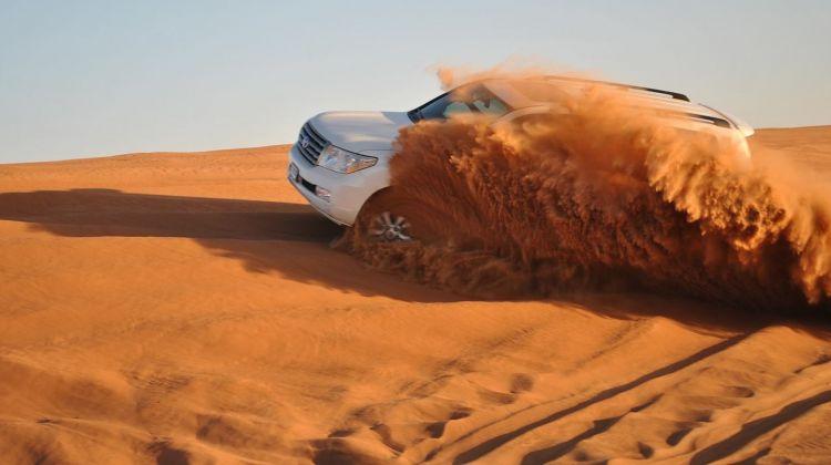 Dubai Desert Safari Dune Drive  and Camel Ride with BBQ