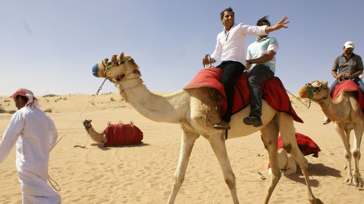 Dubai morning safari with camel ride sandboarding by orient tours dubai morning safari with camel ride sandboarding thecheapjerseys Choice Image