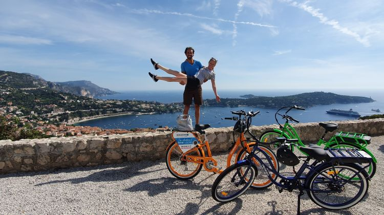 E-bike panoramic tour: Nice - Villefranche-Sur-Mer 3H30