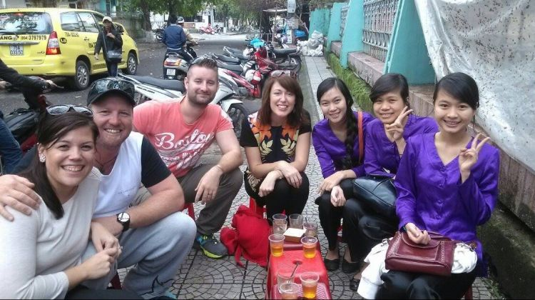 Exploring Hue by night with a Lady rider
