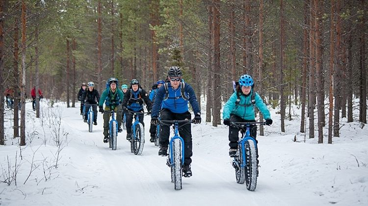 Fat biking in Finland