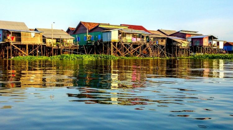 Floating Village of Kampong Phluk on Tonle Sap Lake