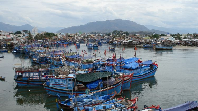 Glass-bottom boat trip on nhatrang bay