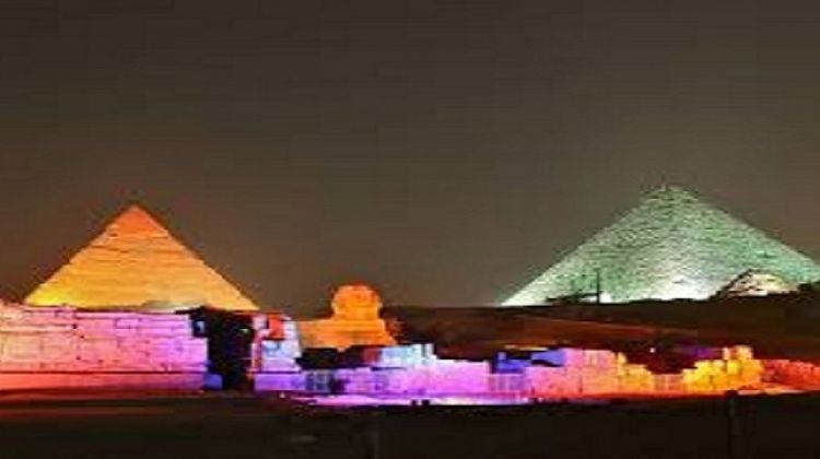 Light and Sound Show at the Pyramids and Sphinx in Giza