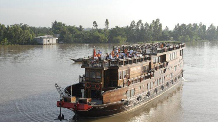 Mekong Delta - Cai Ba Floating Market from Sai Gon Port