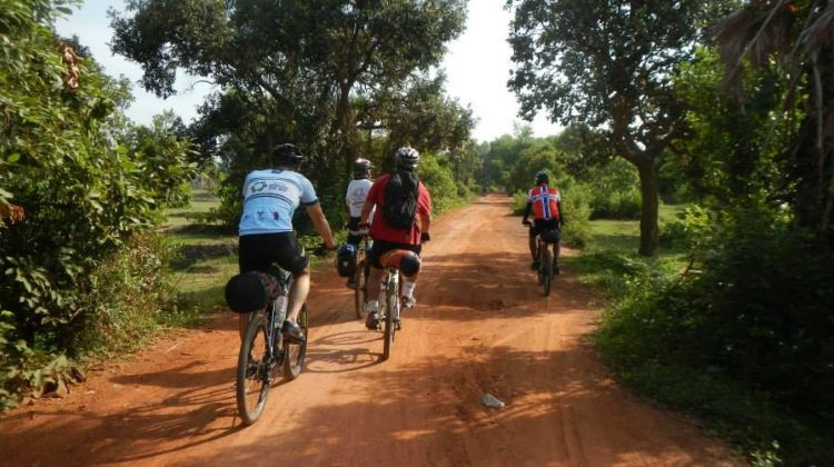 Mountain Biking the Country side of Siem Riep
