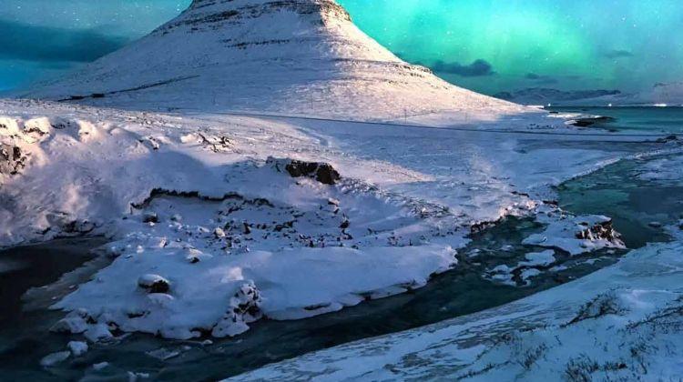 Northern Lights of Iceland including Blue