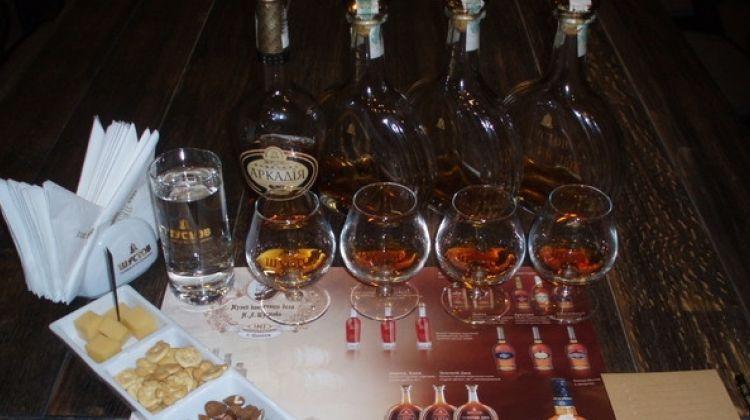 Odessa city center and Shustov cognac tasting