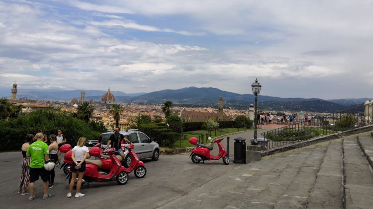 Panoramic Tour of Florence on a Vespa Scooter from Lucca