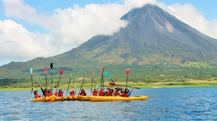 Private Arenal Lake Kayaking and Hot Springs