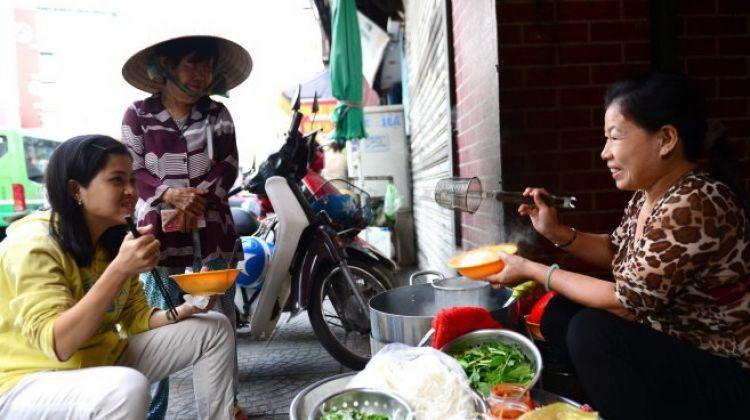 Saigon Night Food Tour on motobike