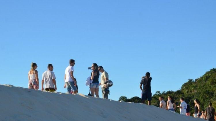 Sandboarding in Florianópolis