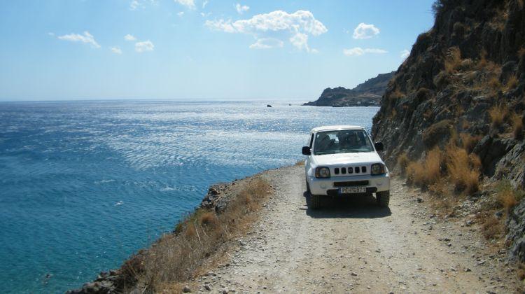 Self-Driven Open Roof 4X4 Jeep Safari in Crete