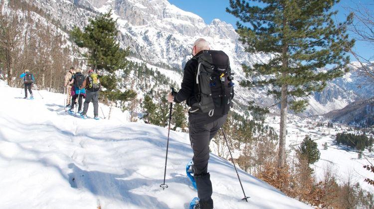 Snowshoeing in Albania