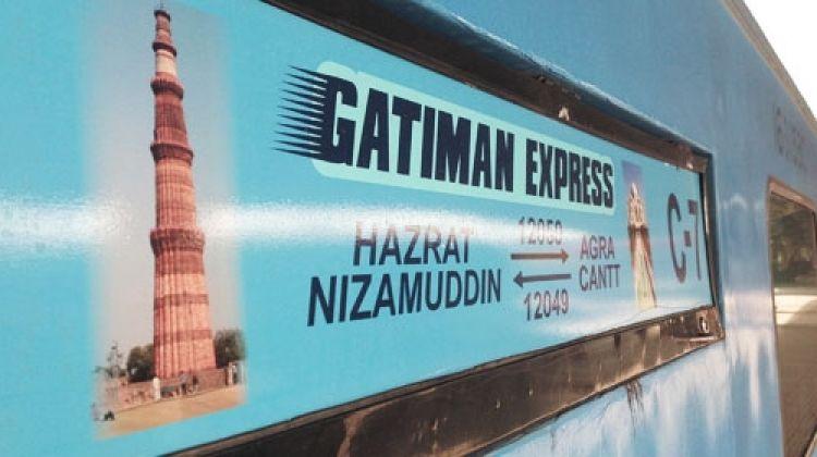 Taj Mahal by Gatimaan train