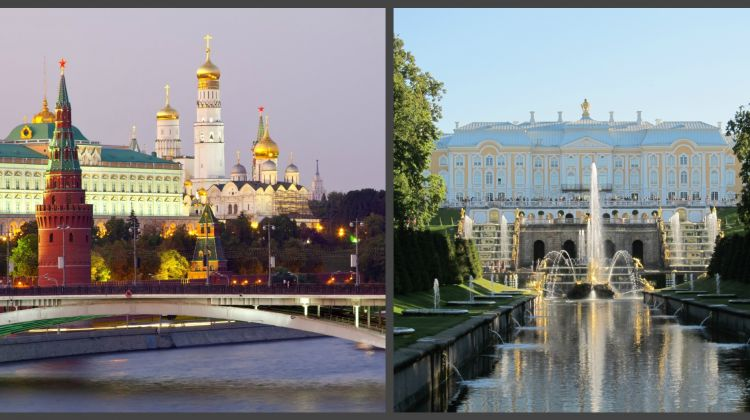 The Best of St Petersburg and Moscow Capitals 5 Day Tour