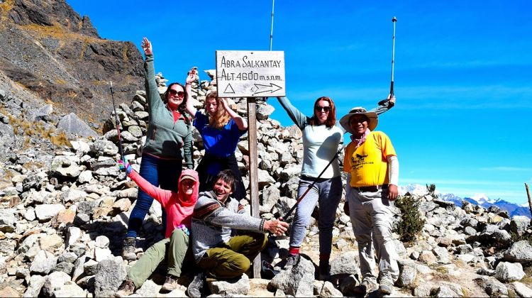 Trek along  Salkantay to Machu Picchu