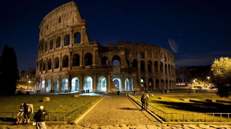 Underground Colosseum by night with Arena