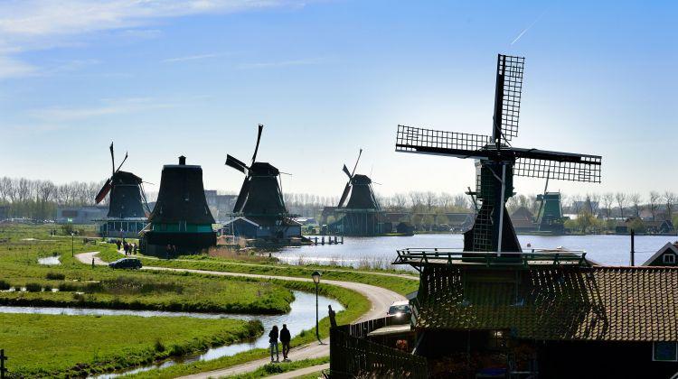 Zaanse Schans windmill village from Amsterdam